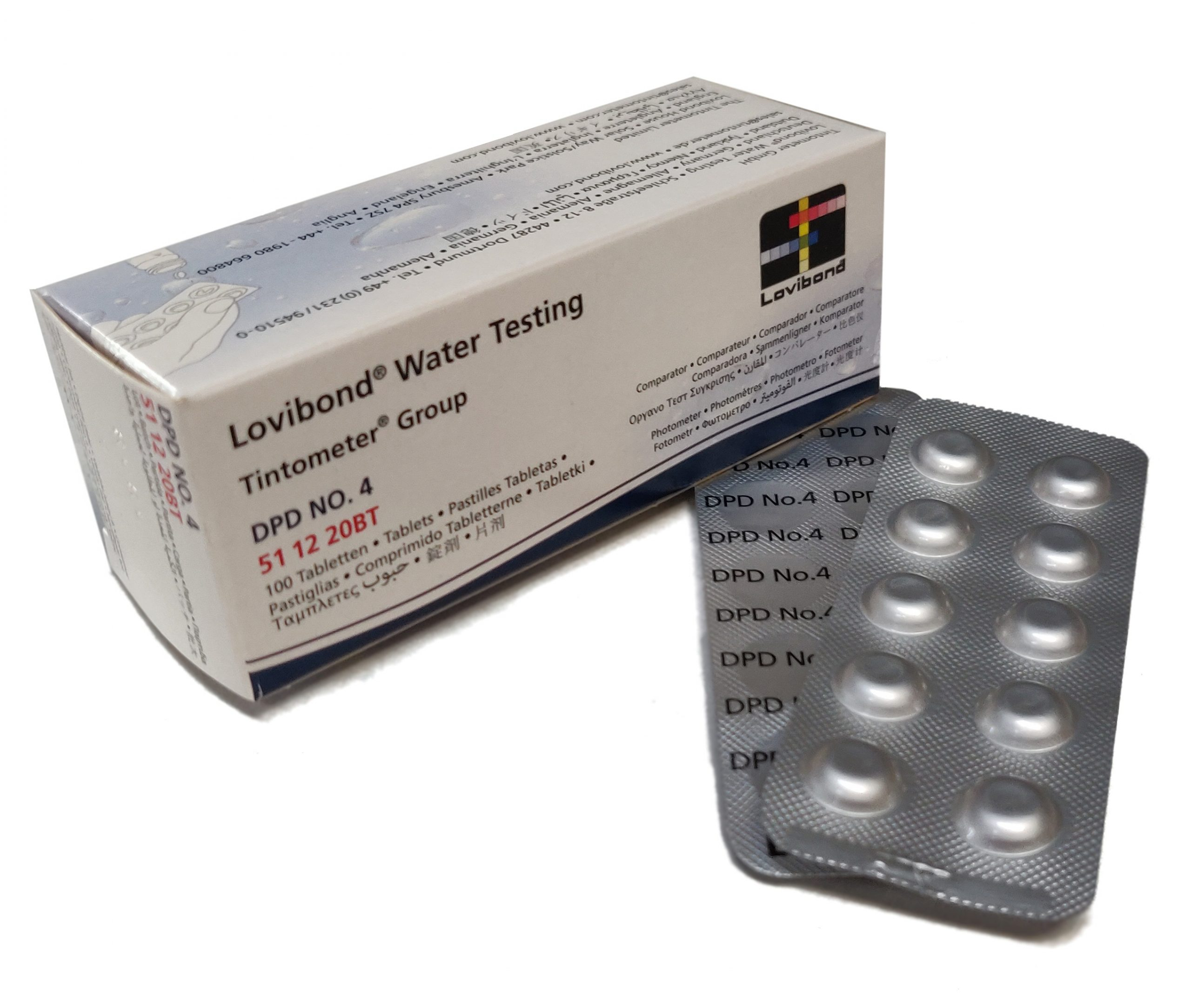 DPD nr. 4, Aktiv Oxygen 0,1-10 mg/l (Photometer)