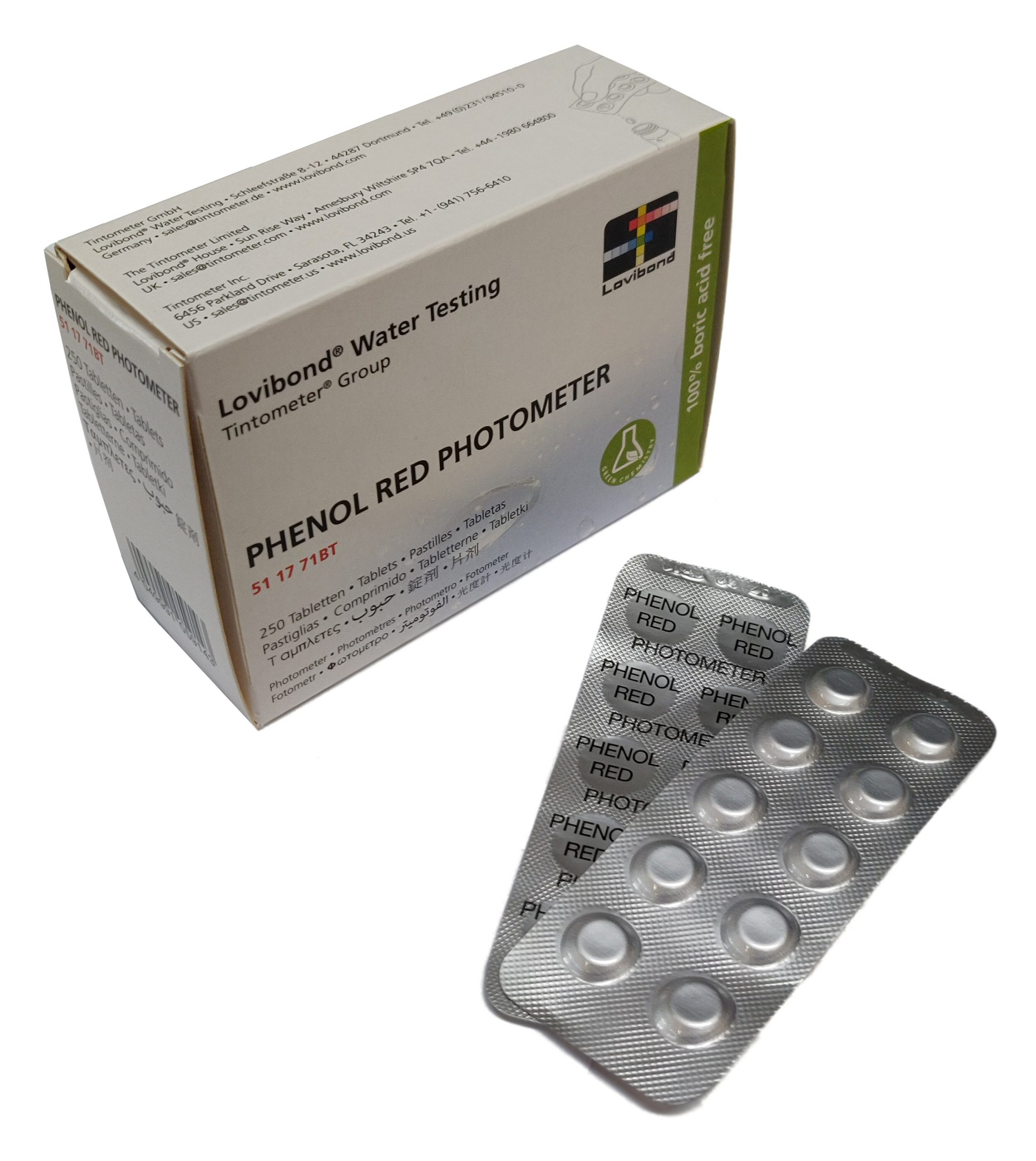 pHenol Red, pH (Photometer)